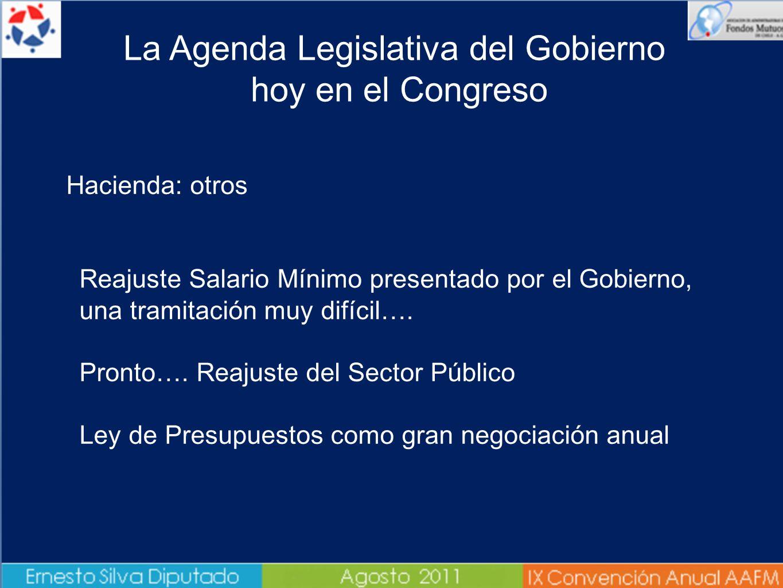 Hacienda: otros Reajuste Salario Mínimo presentado por el Gobierno, una tramitación muy difícil….