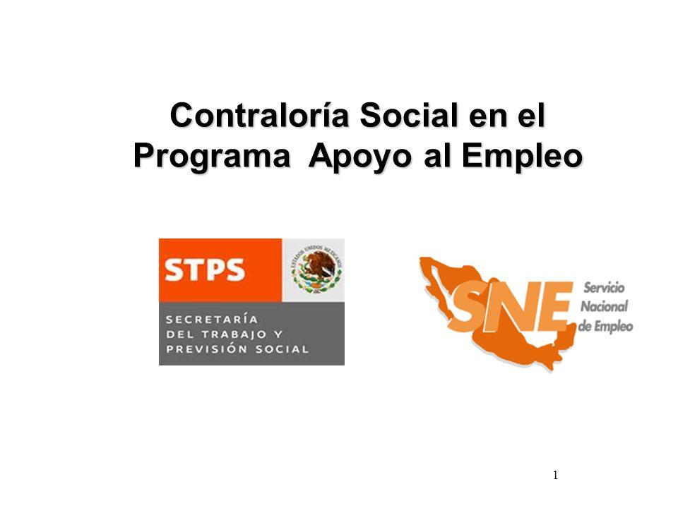 1 Contraloría Social en el Programa Apoyo al Empleo
