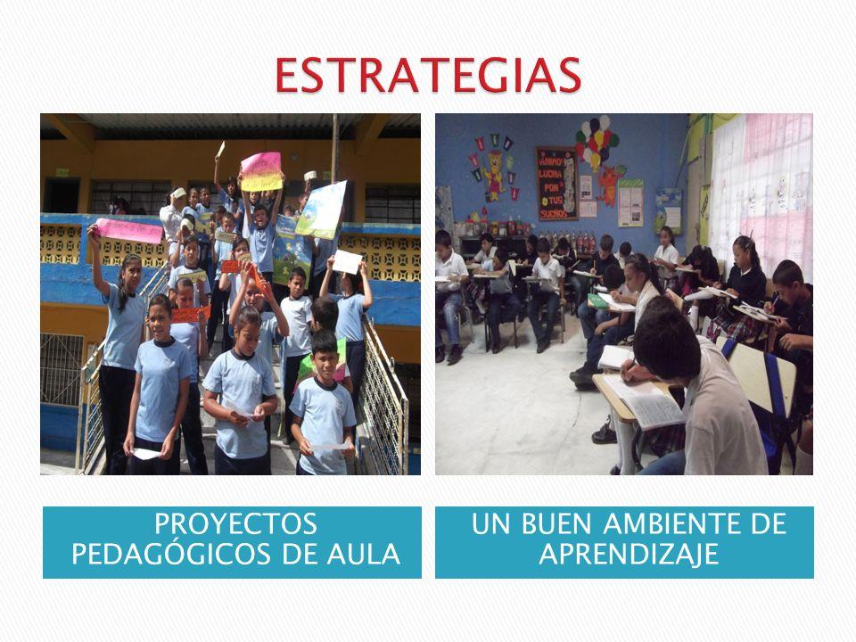 PROYECTOS PEDAGÓGICOS DE AULA UN BUEN AMBIENTE DE APRENDIZAJE