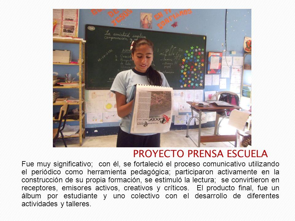 Fue muy significativo; con él, se fortaleció el proceso comunicativo utilizando el periódico como herramienta pedagógica; participaron activamente en