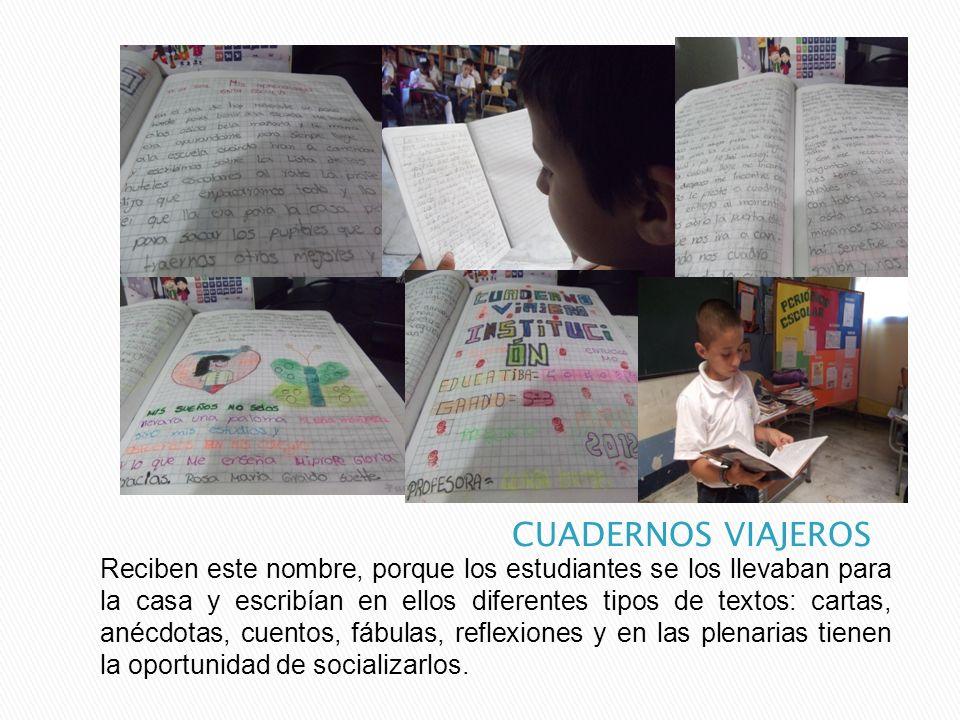 Reciben este nombre, porque los estudiantes se los llevaban para la casa y escribían en ellos diferentes tipos de textos: cartas, anécdotas, cuentos,