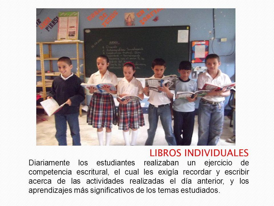 Diariamente los estudiantes realizaban un ejercicio de competencia escritural, el cual les exigía recordar y escribir acerca de las actividades realiz