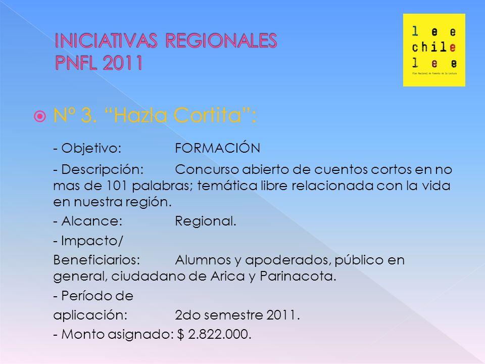 Nº 4.Mesa Regional de Fomento de la Lectura: - Objetivo: DESARROLLO.