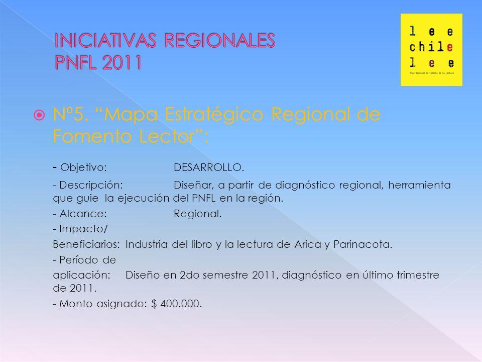 Nº5. Mapa Estratégico Regional de Fomento Lector: - Objetivo: DESARROLLO.