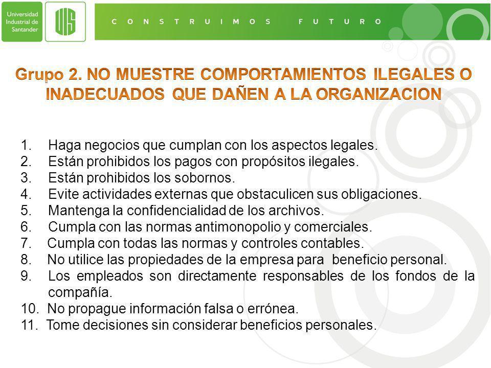 1.Haga negocios que cumplan con los aspectos legales.