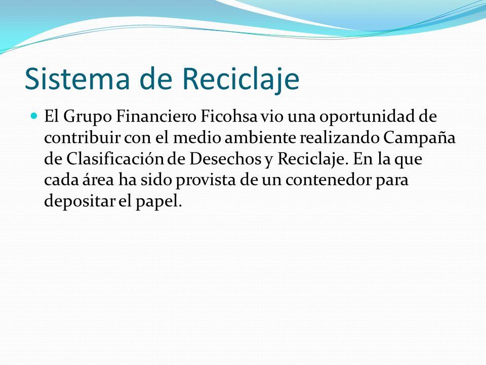 Sistema de Reciclaje El Grupo Financiero Ficohsa vio una oportunidad de contribuir con el medio ambiente realizando Campaña de Clasificación de Desech