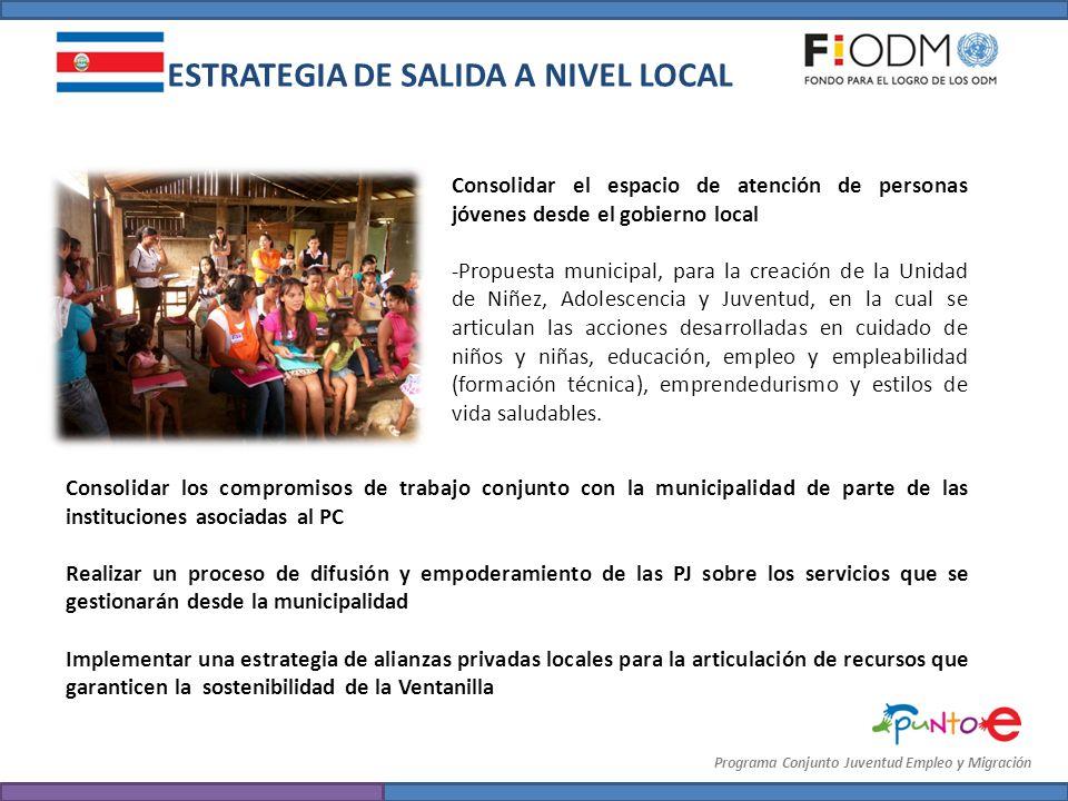 Consolidar el espacio de atención de personas jóvenes desde el gobierno local -Propuesta municipal, para la creación de la Unidad de Niñez, Adolescenc