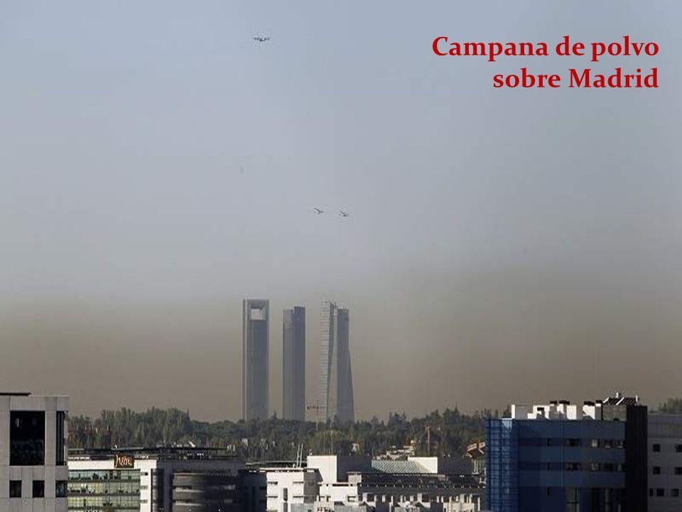 Campana de polvo sobre Madrid