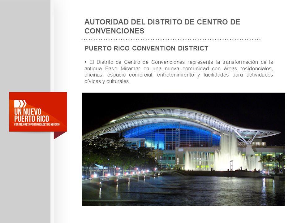 PUERTO RICO CONVENTION DISTRICT El Distrito de Centro de Convenciones representa la transformación de la antigua Base Miramar en una nueva comunidad c