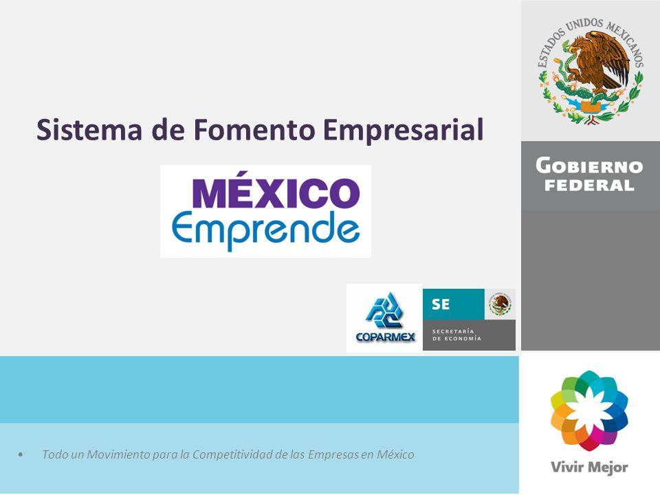 Todo un Movimiento para la Competitividad de las Empresas en México Sistema de Fomento Empresarial