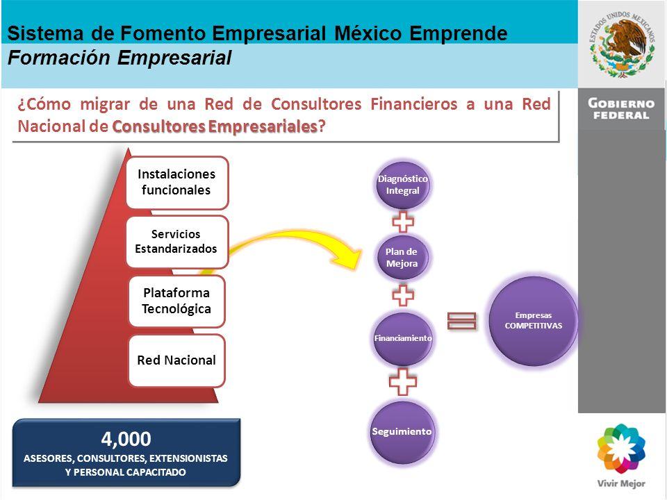 Consultores Empresariales ¿Cómo migrar de una Red de Consultores Financieros a una Red Nacional de Consultores Empresariales? Sistema de Fomento Empre