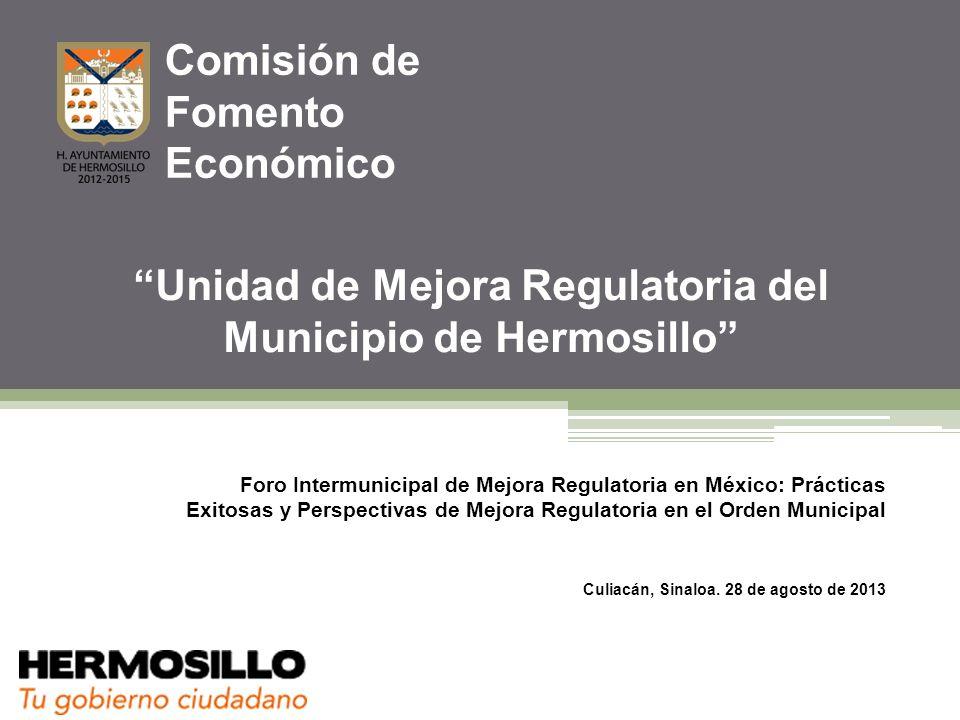 Ventanilla Empresarial de Hermosillo 2007-2012 Comisión de Fomento Económico del Municipio de Hermosillo Estadística.
