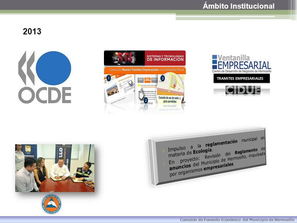 Ámbito Institucional Reglamento de las entidades de la Administración Pública Paramunicipal del Municipio de Hermosillo.