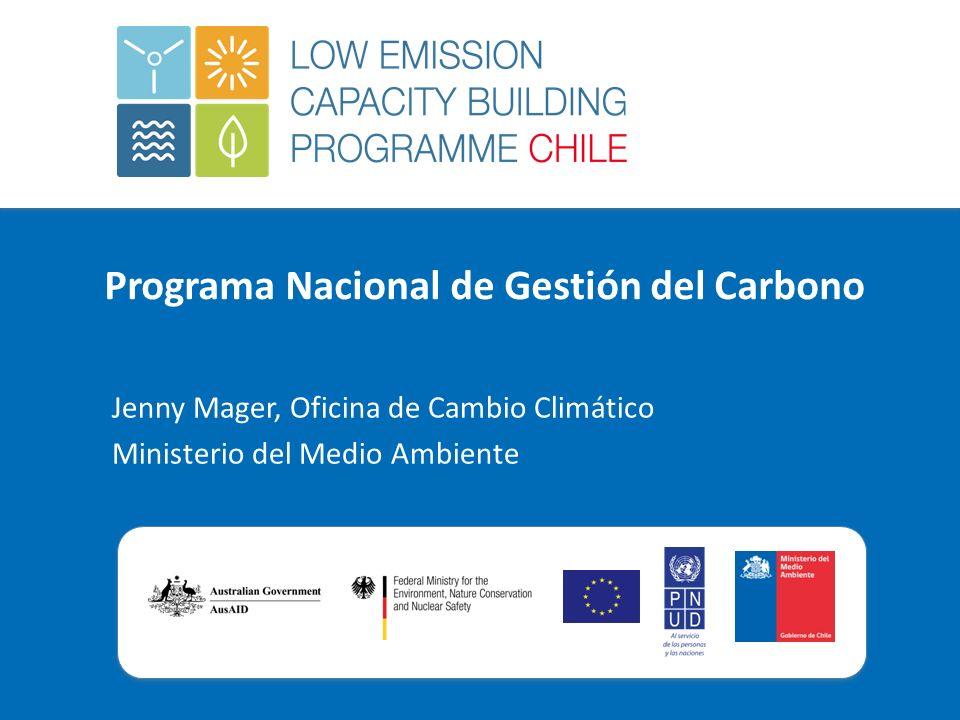 Programa Nacional de Gestión del Carbono Jenny Mager, Oficina de Cambio Climático Ministerio del Medio Ambiente