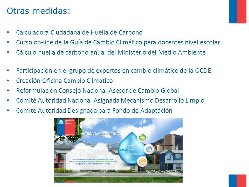 Otras medidas: Calculadora Ciudadana de Huella de Carbono Curso on-line de la Guía de Cambio Climático para docentes nivel escolar Cálculo huella de c