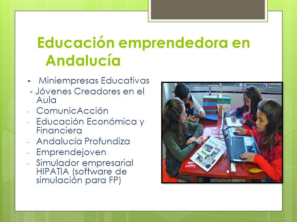 Educación emprendedora en Andalucía - Miniempresas Educativas - Jóvenes Creadores en el Aula - ComunicAcción - Educación Económica y Financiera - Anda
