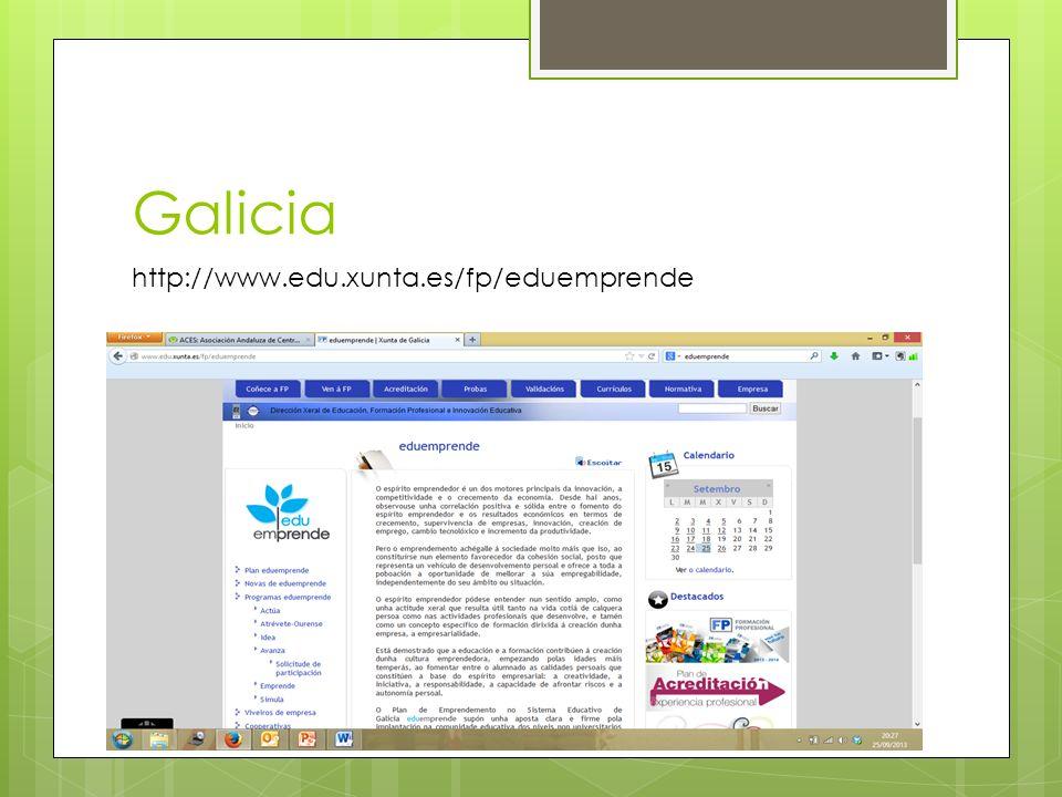 Galicia http://www.edu.xunta.es/fp/eduemprende