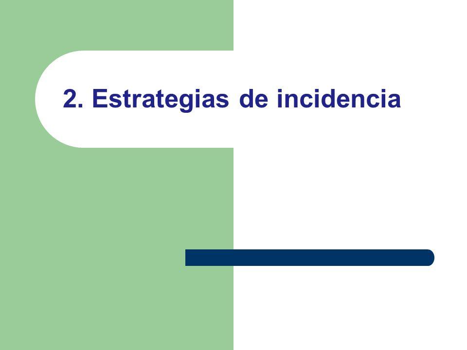 2. Estrategias de incidencia