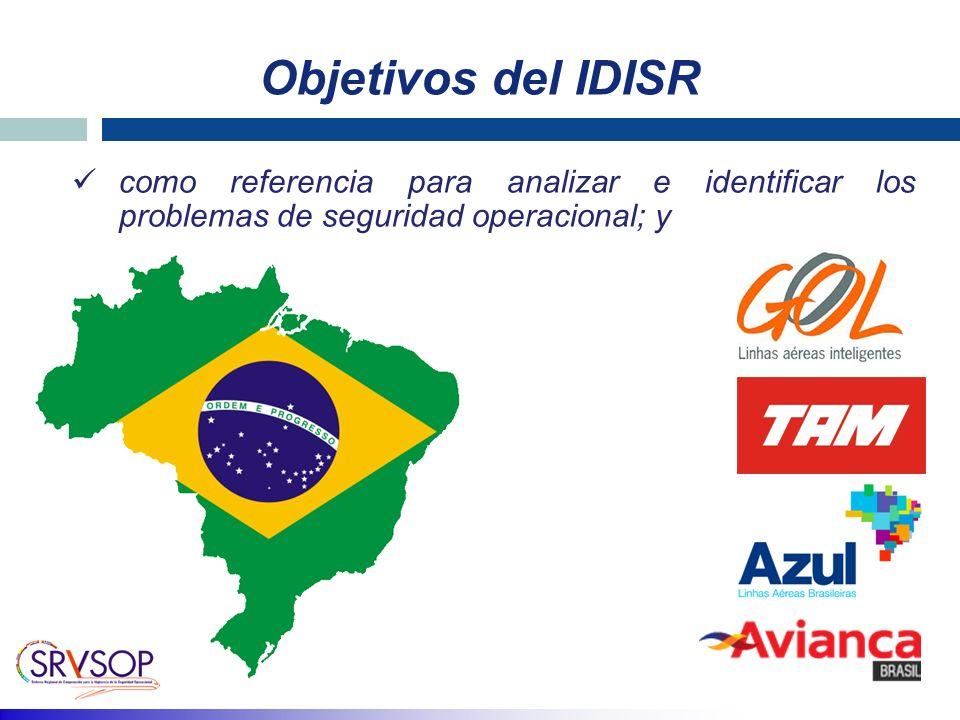Objetivos del IDISR como referencia para analizar e identificar los problemas de seguridad operacional; y