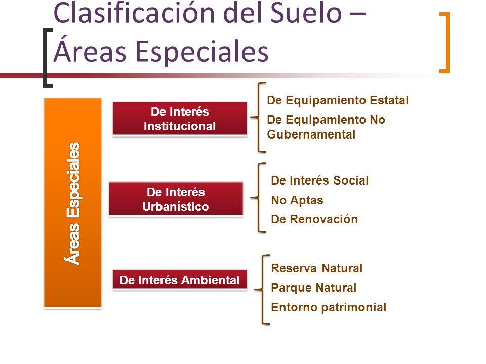 Clasificación del Suelo – Áreas Especiales De Interés Social No Aptas De Renovación De Equipamiento Estatal De Equipamiento No Gubernamental Reserva N