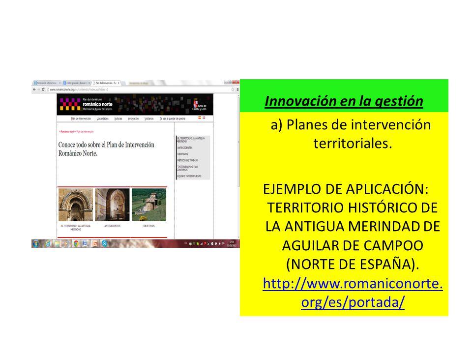 a) Planes de intervención territoriales. EJEMPLO DE APLICACIÓN: TERRITORIO HISTÓRICO DE LA ANTIGUA MERINDAD DE AGUILAR DE CAMPOO (NORTE DE ESPAÑA). ht