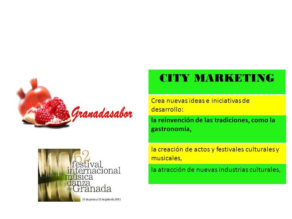 CITY MARKETING Crea nuevas ideas e iniciativas de desarrollo: Fomento de sectores en alza como los de las telecomunicaciones y la moda.