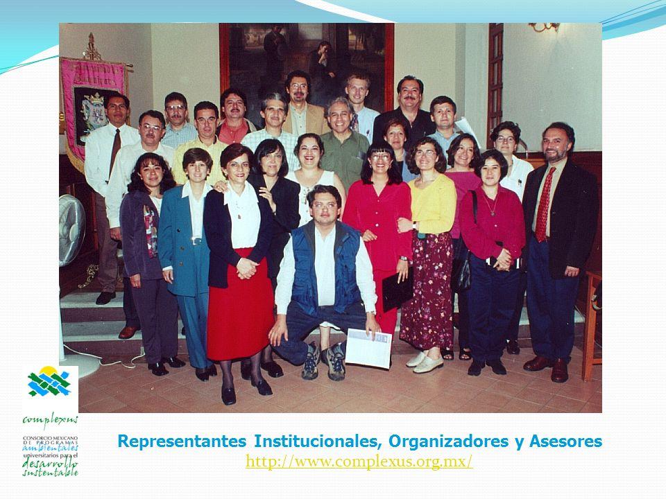 Representantes Institucionales, Organizadores y Asesores http://www.complexus.org.mx/