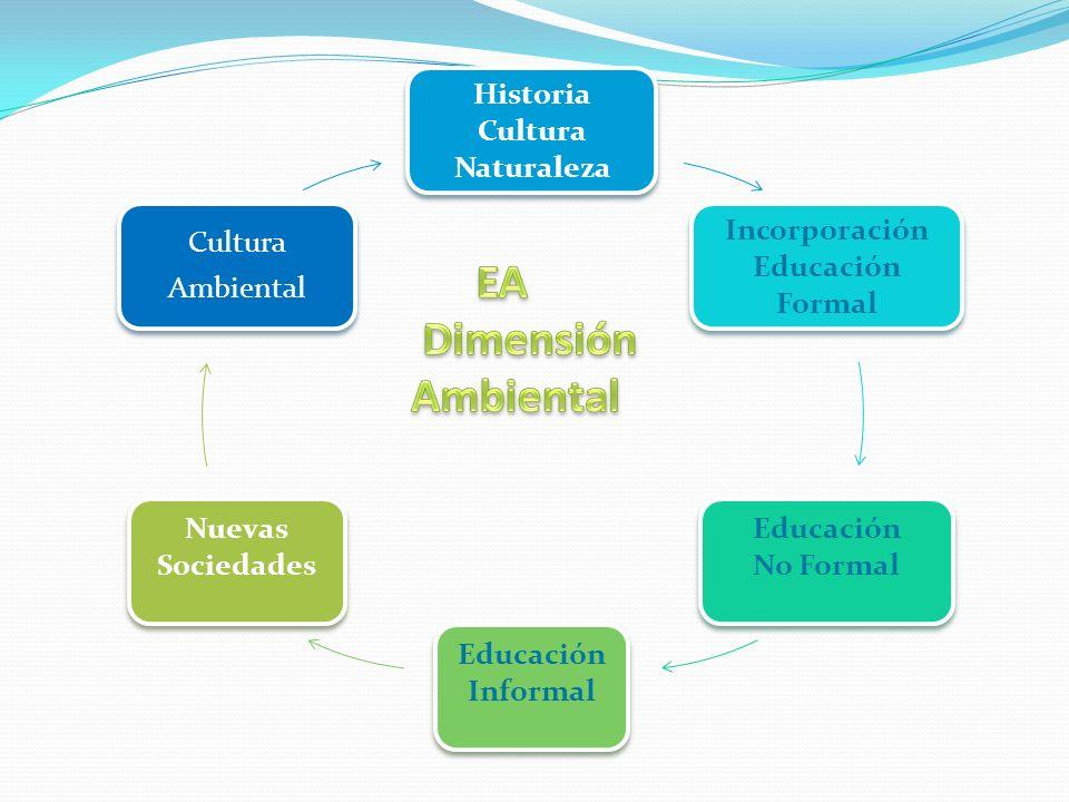Historia Cultura Naturaleza Incorporación Educación Formal Educación No Formal Educación Informal Nuevas Sociedades Cultura Ambiental