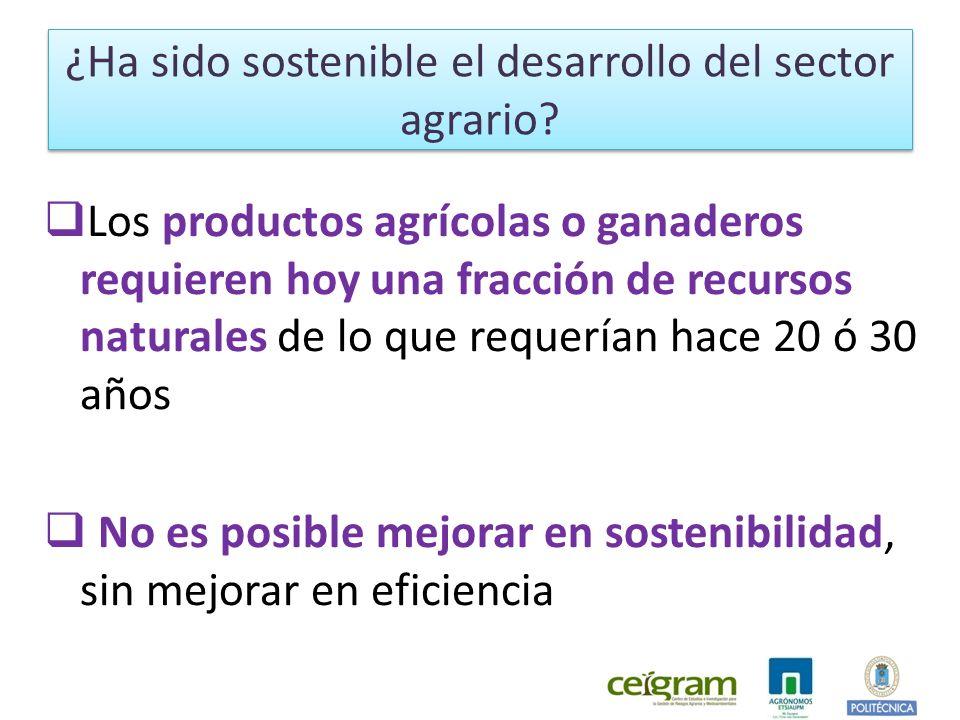 ¿Ha sido sostenible el desarrollo del sector agrario.