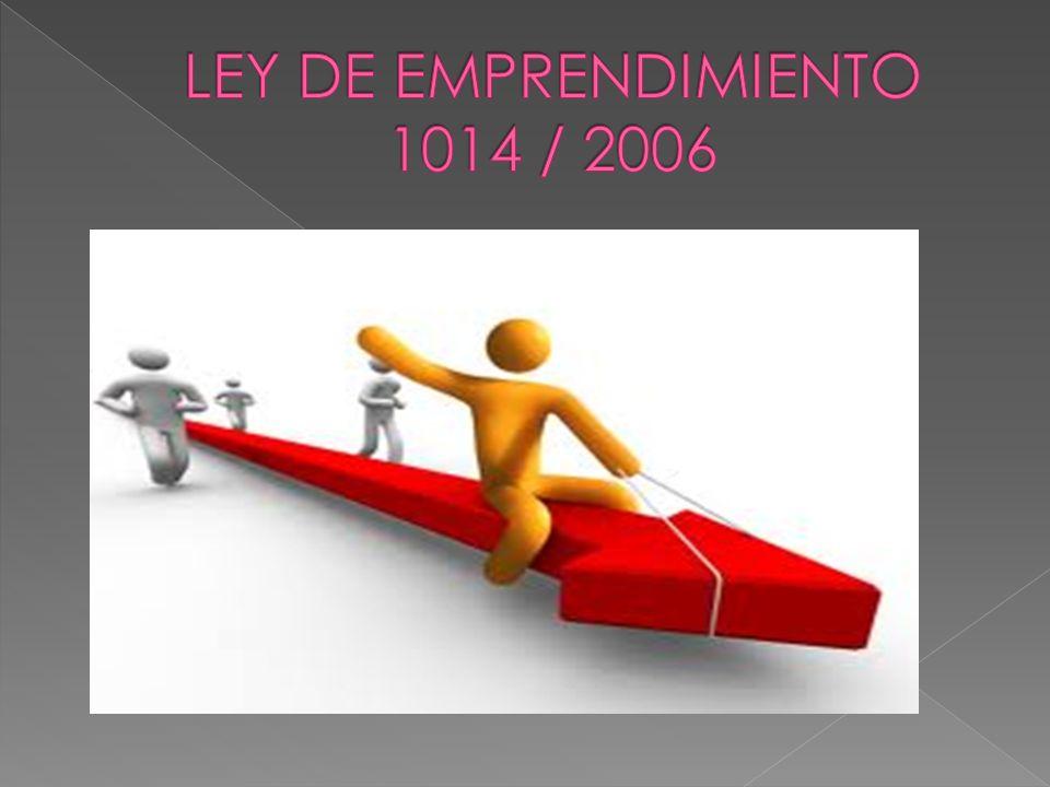 Datos Adicionales: Uno de los Objetivos de esta ley es dar formación en emprendimiento.