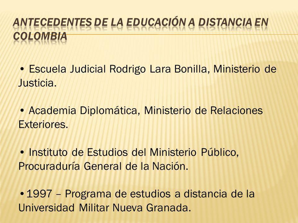 Escuela Judicial Rodrigo Lara Bonilla, Ministerio de Justicia. Academia Diplomática, Ministerio de Relaciones Exteriores. Instituto de Estudios del Mi