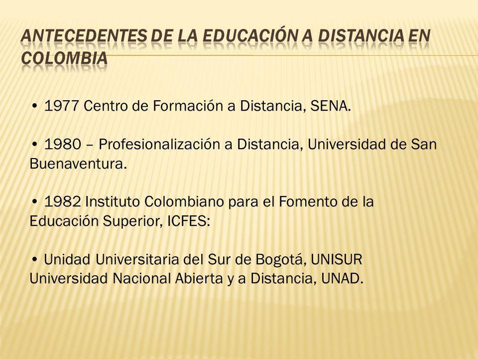 1977 Centro de Formación a Distancia, SENA. 1980 – Profesionalización a Distancia, Universidad de San Buenaventura. 1982 Instituto Colombiano para el