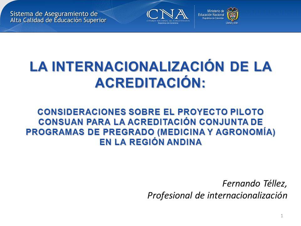 Apreciaciones CNA al proyecto Experiencia valiosa en términos de cooperación y fortalecimiento de lazos regionales.