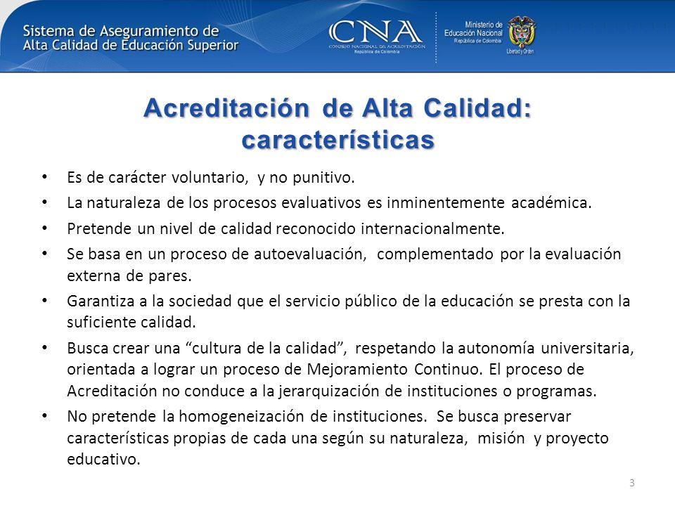 Consejo Nacional de Acreditación El Consejo Nacional de Acreditación de Colombia cumple en 2012 veinte años de creación El CNA cuenta con certificación internacional por la Red Iberoamericana para la Acreditación de la Calidad en la Educación Superior (RIACES) y la International Network for Quality Assurance Agencies in Higher Education (INQAAHE) por cumplimiento de buenas prácticas.