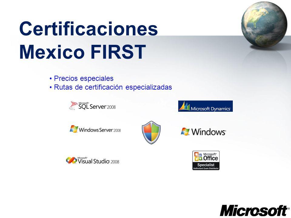 Certificaciones Mexico FIRST Precios especiales Rutas de certificación especializadas
