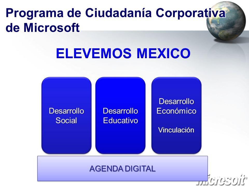 AGENDA DIGITAL Desarrollo Social Desarrollo Educativo Desarrollo Económico Vinculación Vinculación