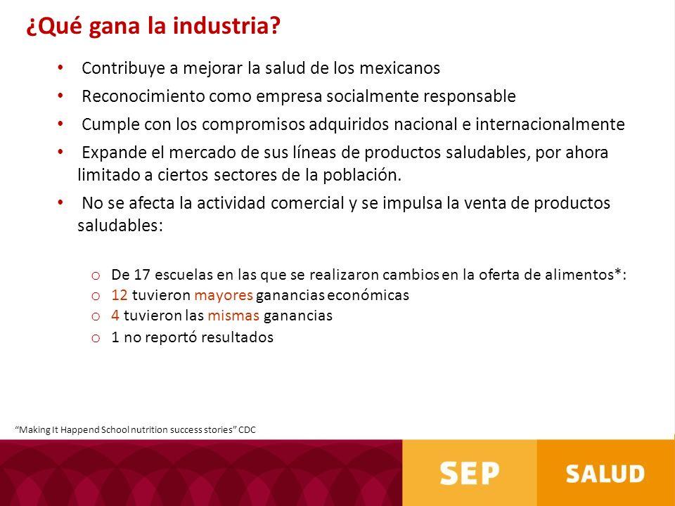 Contribuye a mejorar la salud de los mexicanos Reconocimiento como empresa socialmente responsable Cumple con los compromisos adquiridos nacional e in
