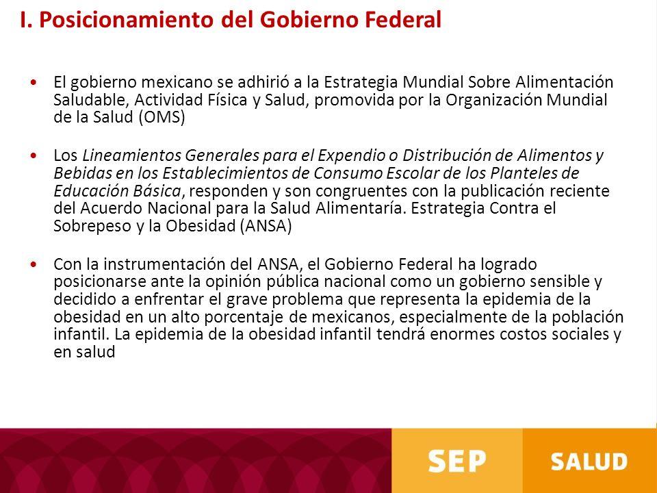 El gobierno mexicano se adhirió a la Estrategia Mundial Sobre Alimentación Saludable, Actividad Física y Salud, promovida por la Organización Mundial