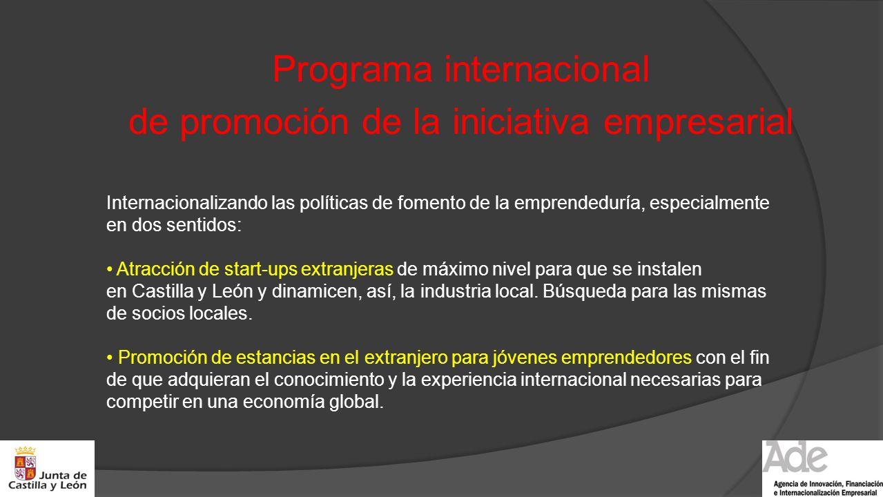 Programa internacional de promoción de la iniciativa empresarial Internacionalizando las políticas de fomento de la emprendeduría, especialmente en do