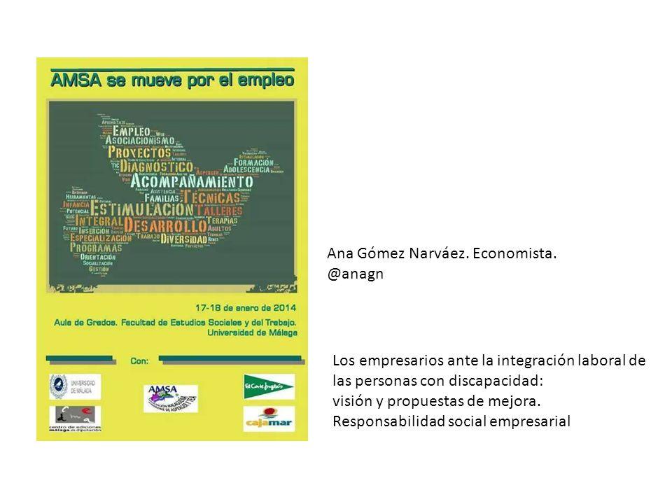 Ana Gómez Narváez.Economista.