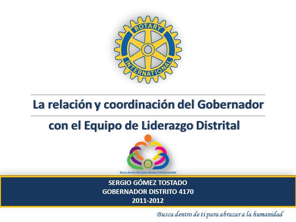 La relación y coordinación del GobernadorLa relación y coordinación del Gobernador con el Equipo de Liderazgo Distritalcon el Equipo de Liderazgo Dist