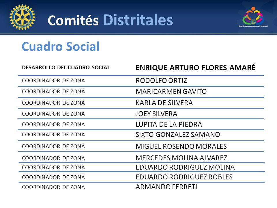 DESARROLLO DEL CUADRO SOCIAL ENRIQUE ARTURO FLORES AMARÉ COORDINADOR DE ZONA RODOLFO ORTIZ COORDINADOR DE ZONA MARICARMEN GAVITO COORDINADOR DE ZONA K