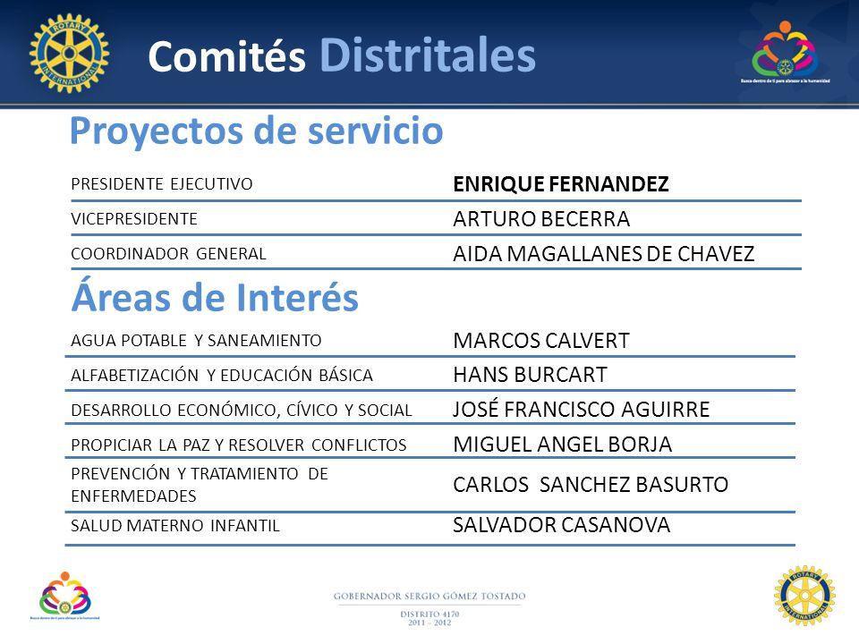 PRESIDENTE EJECUTIVO ENRIQUE FERNANDEZ VICEPRESIDENTE ARTURO BECERRA COORDINADOR GENERAL AIDA MAGALLANES DE CHAVEZ Áreas de Interés AGUA POTABLE Y SAN