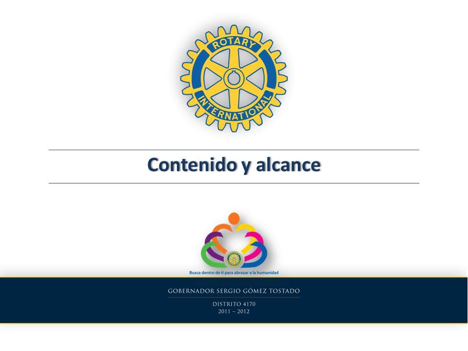 Contenido y alcance Distrito 4170 2011-2012 Selección de funcionarios La Nueva Visión Futura de La FR: Intercambios Vocacionales Conferencia de Distrito Coordinación de los Comités Distritales