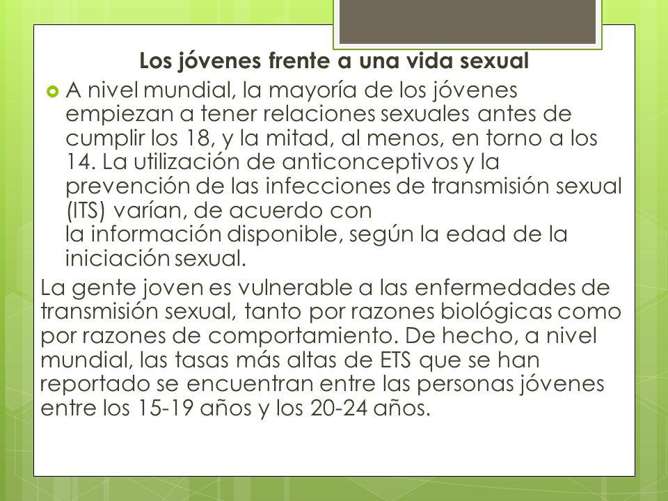 Opiniones de una vida sexual a temprana edad El Sexo debe darse dentro del Matrimonio y se debe desarrollar en un contexto de Madurez y Compromiso por