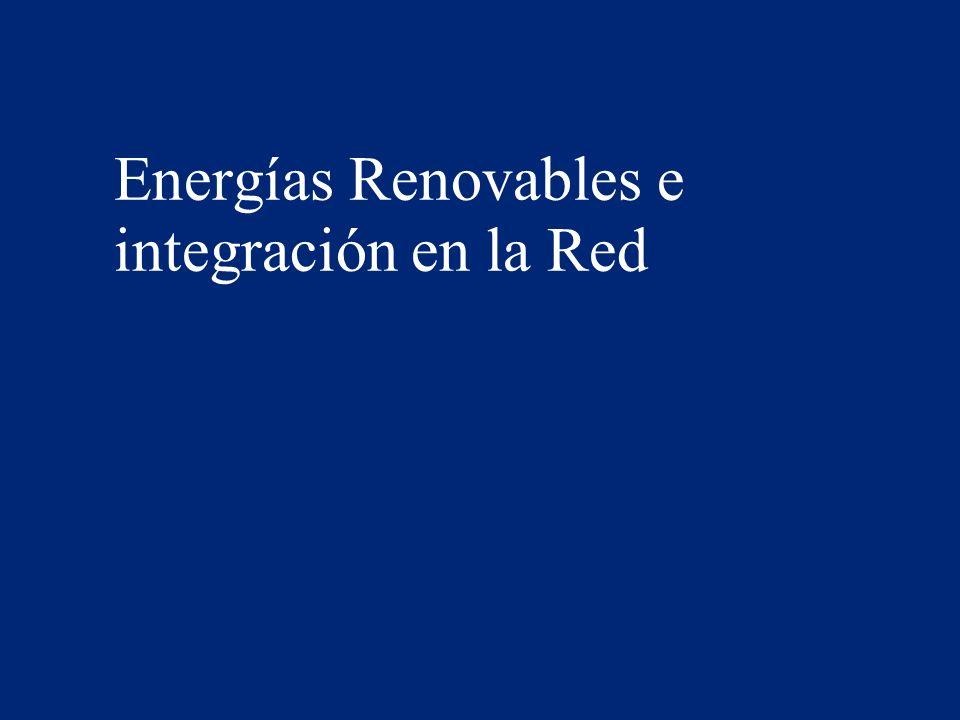 Energías Renovables e integración en la Red 2