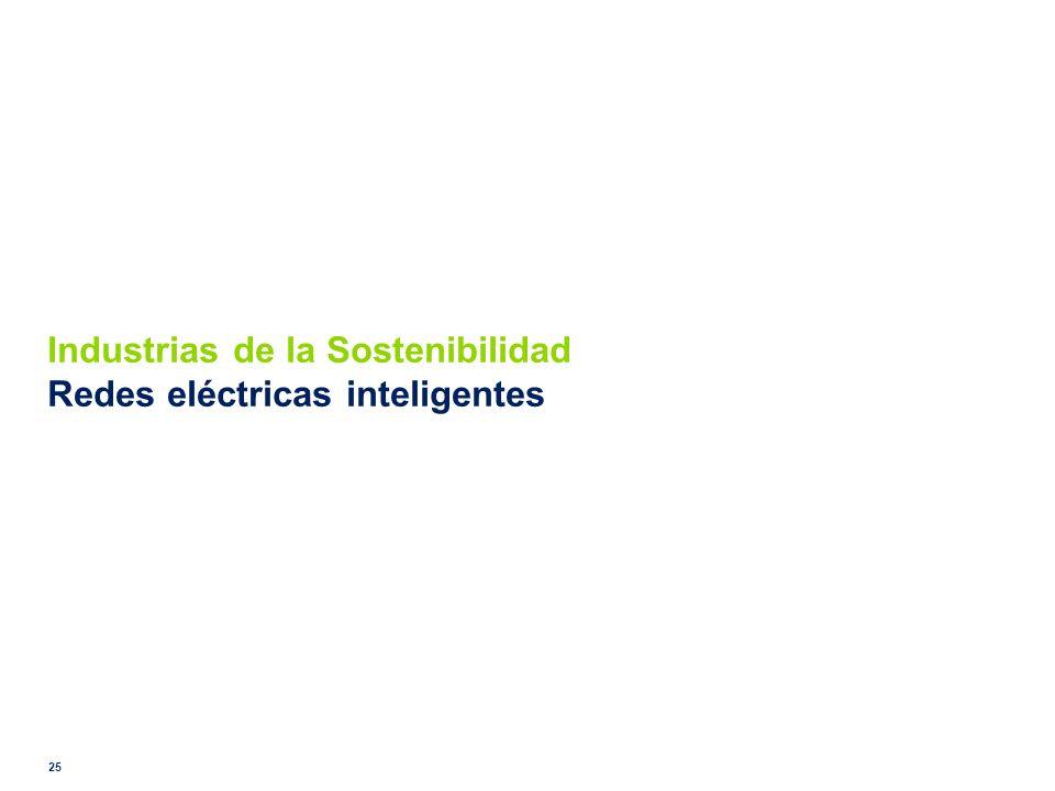 Industrias de la Sostenibilidad Redes eléctricas inteligentes 25