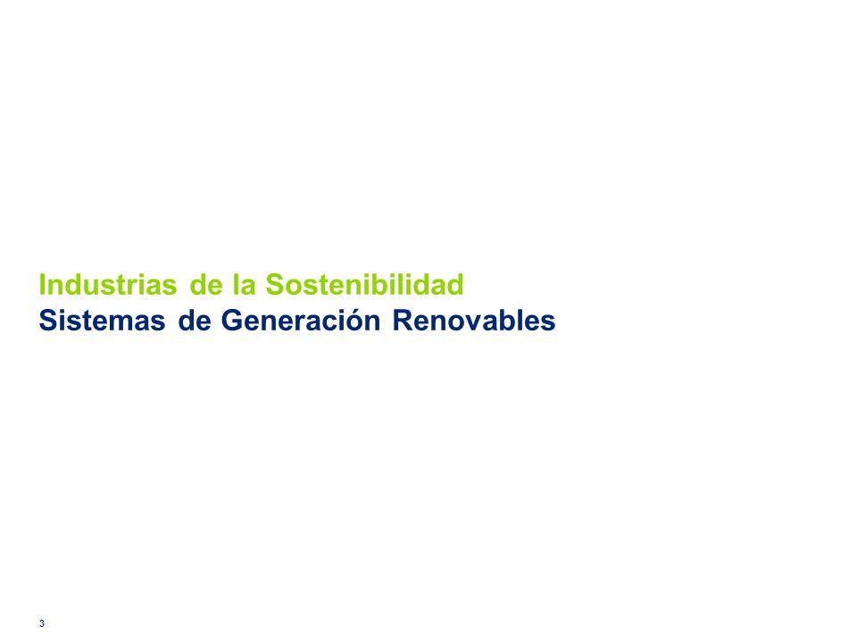 Industrias de la Sostenibilidad Sistemas de Generación Renovables 3
