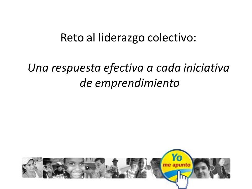 Reto al liderazgo colectivo: Una respuesta efectiva a cada iniciativa de emprendimiento