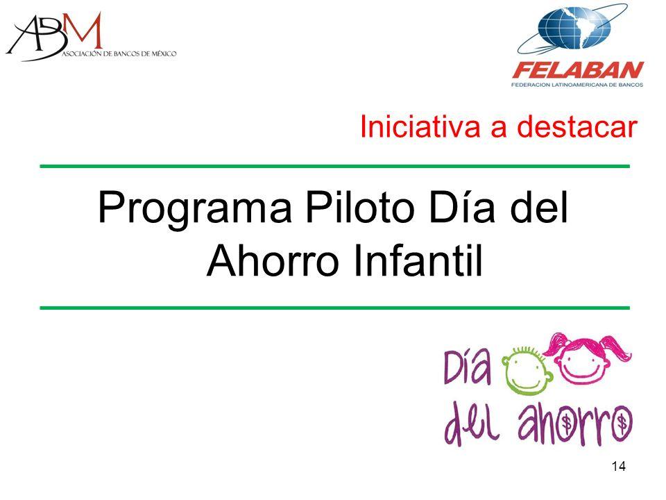Programa Piloto Día del Ahorro Infantil 14 Iniciativa a destacar